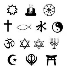 Las religiones del mundo.